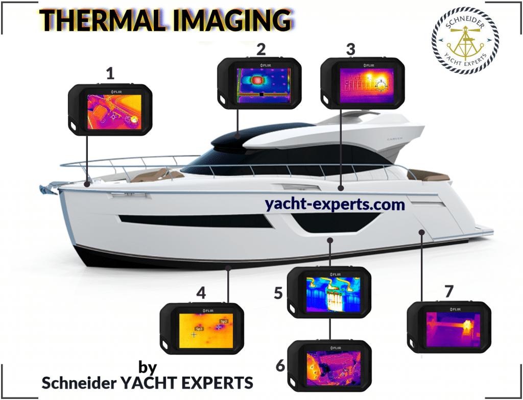 Yachtgutachten Thermografie Beispiele