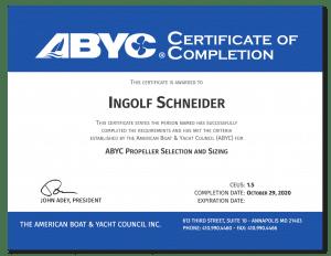 Gutachter für Boote Zertifikat ABYC | Ingolf Schneider