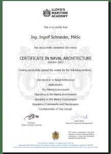 Yachtgutachter Zertifikat LLoyds | Ingolf Schneider