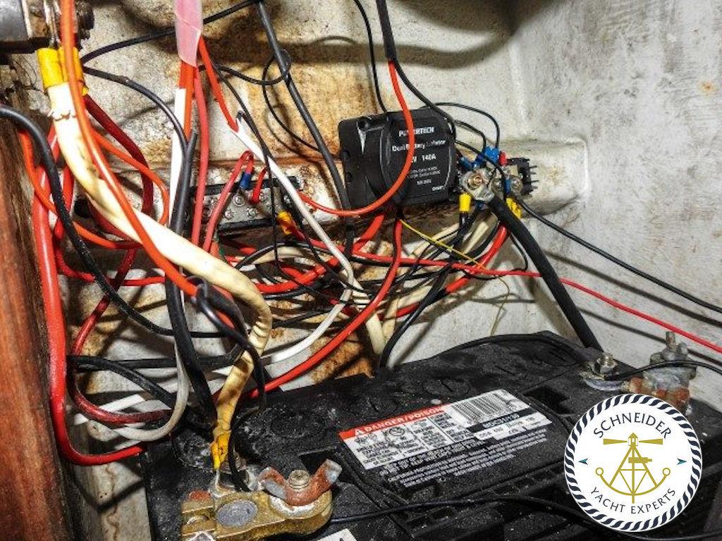 Mangelhafte Batterie Installation auf Booten | Ihr Yachtgutachter